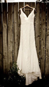 Elegant Lace San Patrick Elenco Wedding Gown