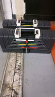 Powerblocks sports series 9.0 + stage 3 expansion 5lbs-130lbs