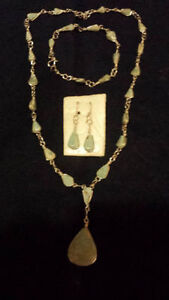Necklace, Bracelet & Earings(Pierced) Set