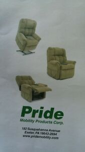 Pride Mobility recliner green
