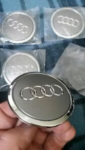Audi Center Wheel Caps - 58/69mm - set of 4 - New Never Used