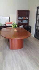 NICE BIG DINNING TABLE ( WOOD ) WITH FREE STUFF TO GIVE AWAY