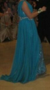 Beautiful Teal Evening Gown Windsor Region Ontario image 9