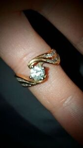 14k Yellow Gold /w Over .750ct Diamond Ladies Ring.