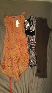 Mixed Woman's Clothing, NEW WITH TAGS - Two Silk Dresses & Pants