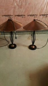 LAMPS FOR SALE LIKE NEW AT $10. EACH CALL 519-673-9819