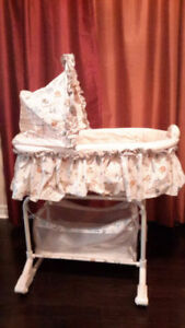 2-in-1 Bassinet by Bily. Convenient, rarely used and very clean!