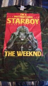 """New""  The Weekend -STARBOY - 2017 World Tour T-shirt (L)"