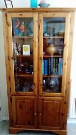 Victorian Pine display Unit and Matching Bookcase - Ducal