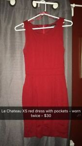 Le Chateau red dress