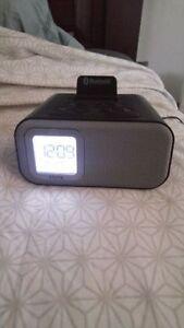 Bluetooth Alarm Clock/still has plasic on screen