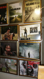 the walking dead framed pictures 60 in all