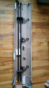 "Double Bracket Curtain rod - 48-86"" black"