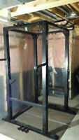 Xtreme Monkey Commercial Power Rack Cage, Dip Chin Up 1200lb Max