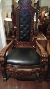 KING THRONE CHAIRS LION