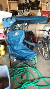 2 - Broadstone camping chairs with sun cover