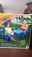 Ensemble de table et chaises adirondack - NEUF