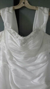 Elegant White Wedding Dress Size 16-18 for spring wedding