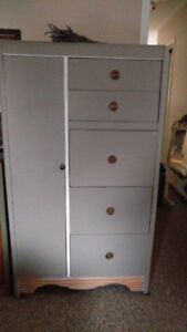 Vintage Waterfall Wardrobe and Dresser with drop leaf desk