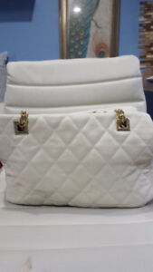 Quilted  faux leather Forever 21 handbag
