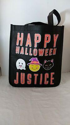 Happy Halloween Bag (NWOT JUSTICE GIRLS HALLOWEEN BAG GHOST WITCH BLACK CAT HAPPY HALLOWEEN)