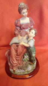 Vintage Collectible Figurines Adeline Mother daughter son kids