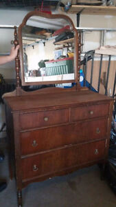 Antique Dresser with Mirror for sale.