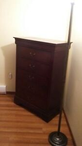 Gorgeous dresser, sleigh bed, night stand and mattress combo