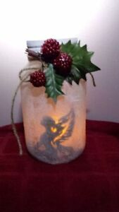 ON SALE NOW REINDEER FROSTED CANDLE HAND CRAFTED JAR Cambridge Kitchener Area image 7