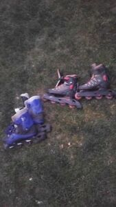 Roller blades size 5 and size 4
