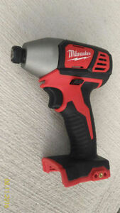"Milwaukee M18 impact Driver 1/4"" hex-Bare Tool Cambridge Kitchener Area image 2"