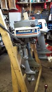 1980 Evinrude 2 HP Outboard Motor For Sale