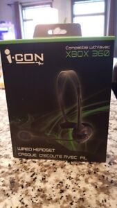 X Box 360 wired headset