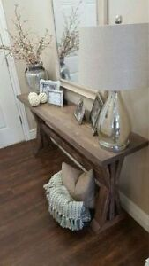 Handmade rustic front entrance table