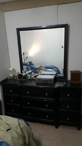 Dresser with mirror and two identical night stands $450obo