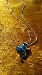 Sterling Frog Necklace