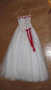 Elegant Formal Dress (strapless) -White- Size 10 -Like New -$80