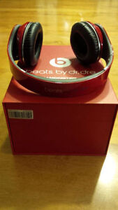 Excellent Condition!RED Over EAR Beat by Dre Studio Headphones!
