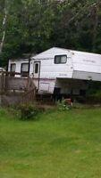 28 ft rustler 5th wheel rv travel trailer