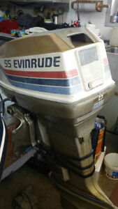 Evinrude Outboard 55 HP Good Condition !!! Kitchener / Waterloo Kitchener Area image 1