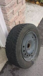 4 Hankook Ipike RS 215/60R16 winter tires on rims