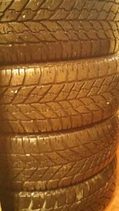 Complete set of four 225-60-17 Goodyear Ultra Grip Snow tires