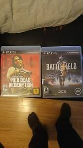 Red dead redemption + Battlefield 3 *MINT*  PS3