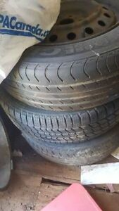 2 pairs all season tires 215 65 16 , 100$ for four !!!