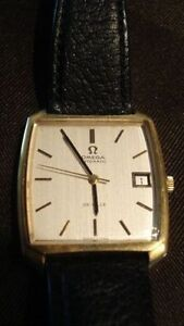 18k.750 SOLID GOLD OMEGA DEVILLE AUTOMATIC MEN WATCH(RARE)