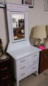 Vintage 3 Drawer Dresser with Mirror for Sale