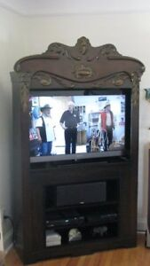 Carved Entertainment Unit For Sale