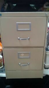 Beige 2 Drawer Filing Cabinet