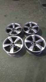 "4x Genuine AUDI Rotor Alloy Wheels 18"""