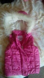Pink Winter/Fall/Spring vest with hood. 18 months.